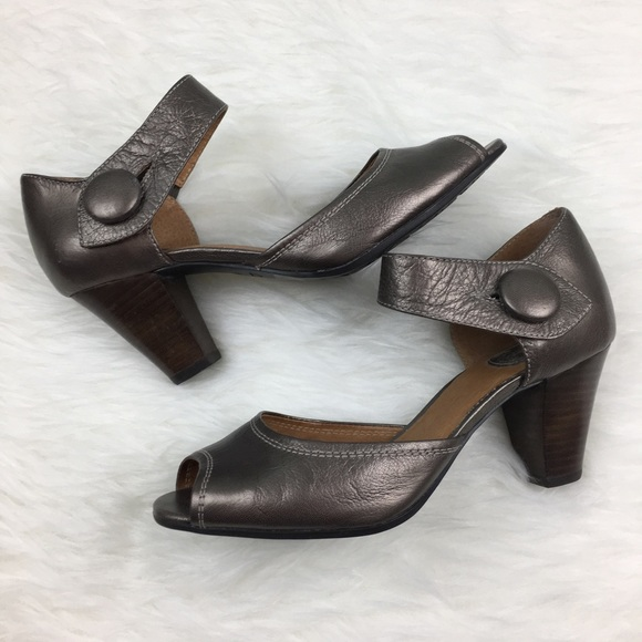 e4712df0bfd Clarks Shoes - Clarks Active Air Metallic Heels